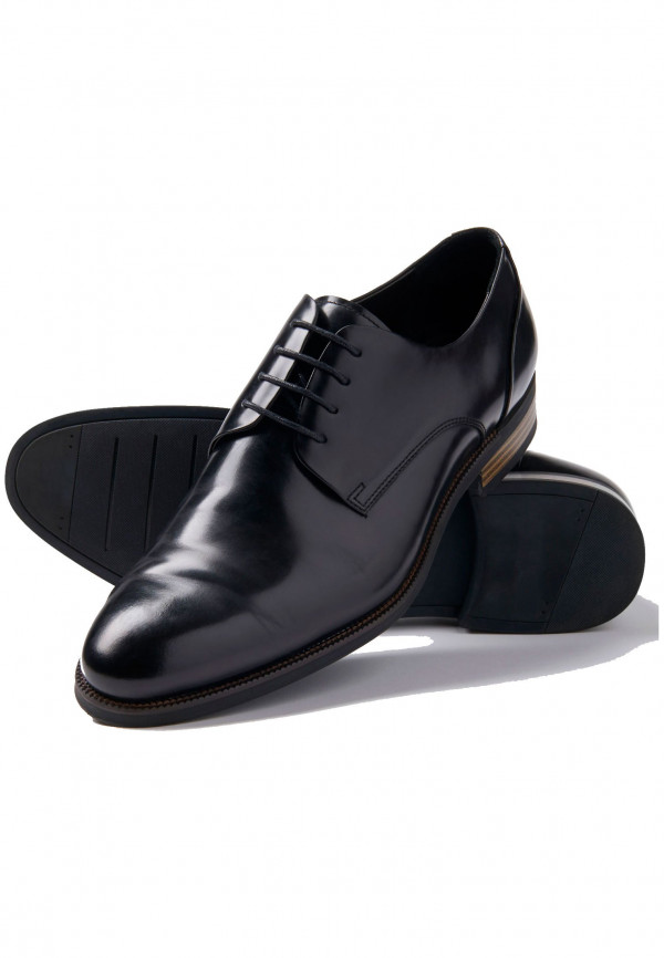 Black Elms Shoe With Rubber Sole