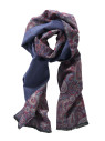 Navy And Paisley Scarf