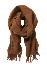 Plain Rust 100% Lambswool Scarf