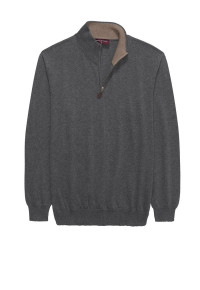 Grey Dee Zip Neck