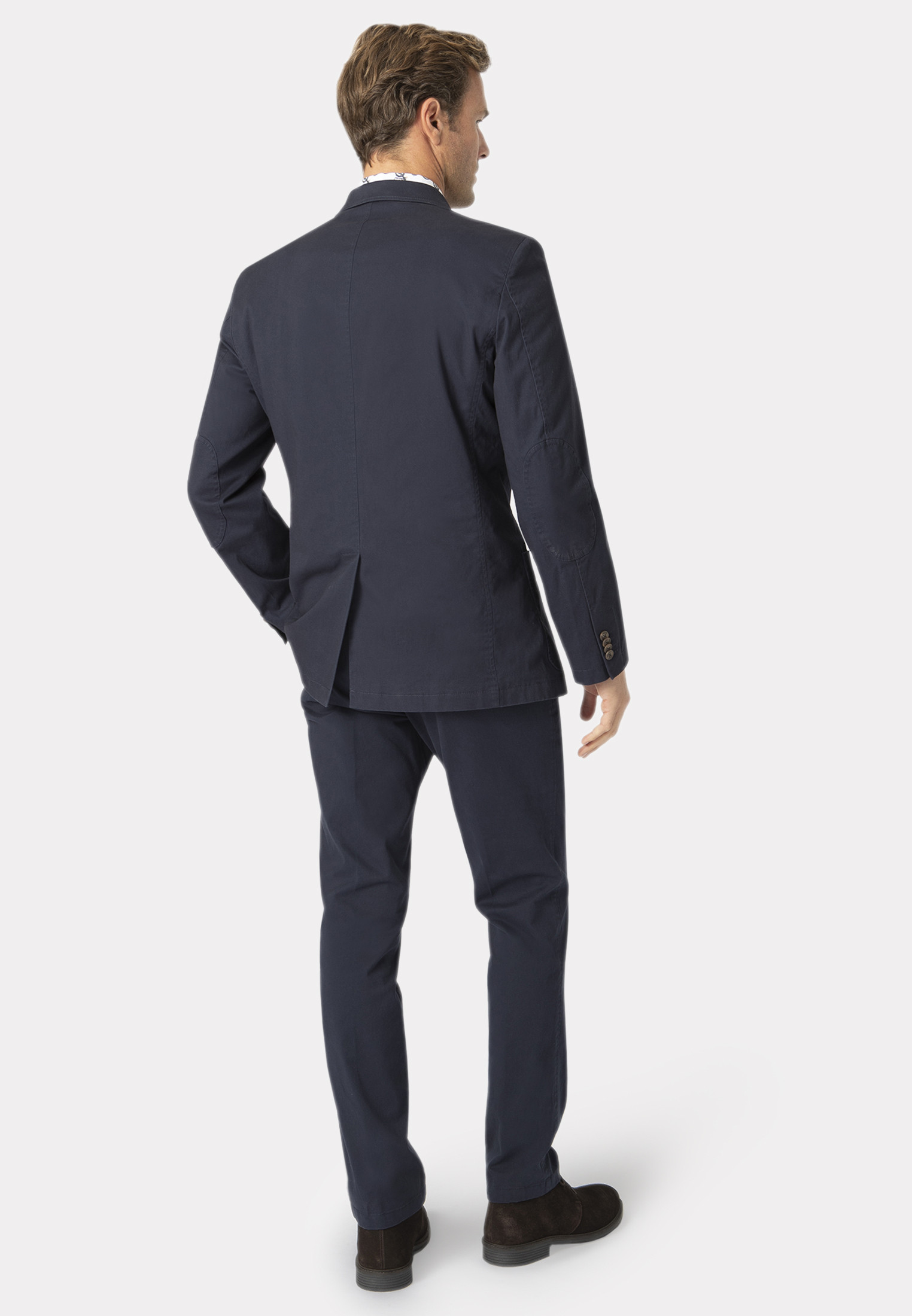 Edmonton Navy Tailored Fit Chino Suit